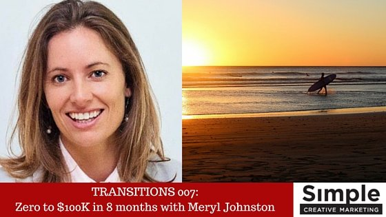 TRANSITIONS 007: Zero to $100K in 8 months with Meryl Johnston (Bean Ninjas)
