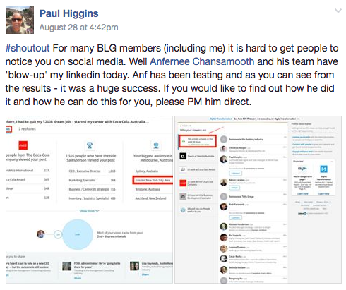 Paul Higgins Testimonial
