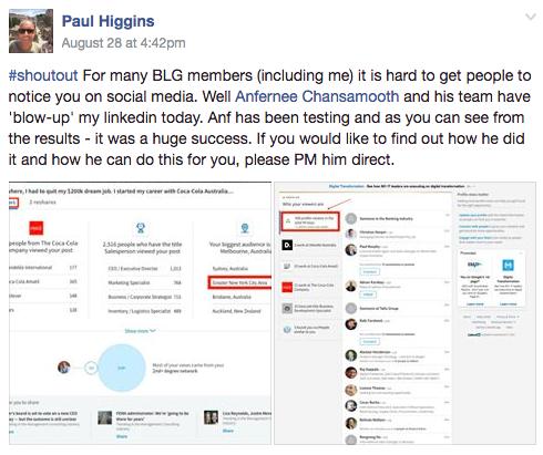 Paul Higgins Testimonial
