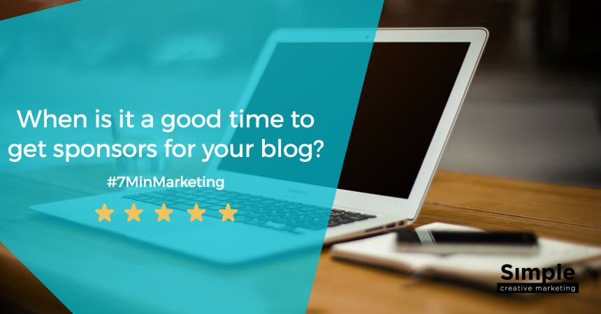 Blog sponsorship: When is it a good time to get sponsors for your blog?