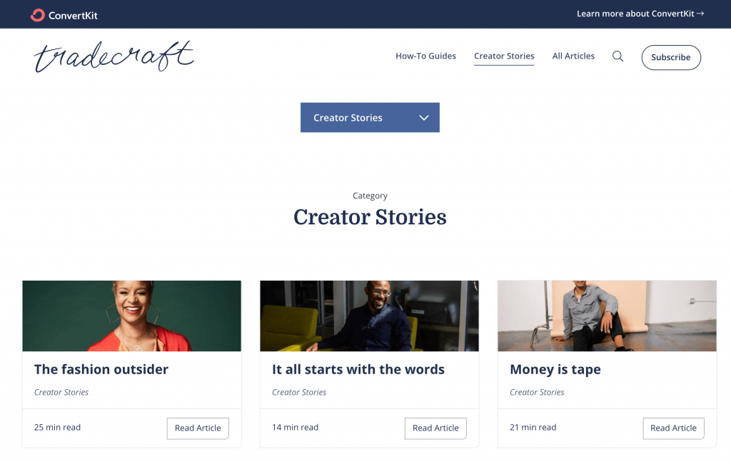 CK_creator_stories page