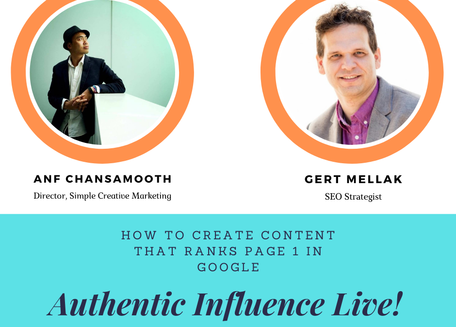 How To Create Content That Ranks Page 1 In Google with Gert Mellak