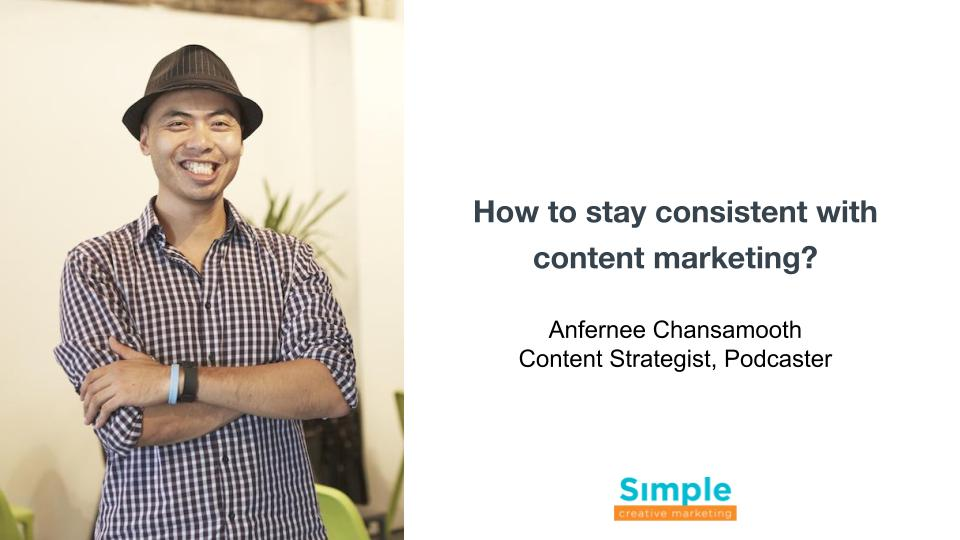 How to stay consistent with content marketing?