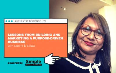 Lessons from building and marketing a purpose driven business with Sandra D'Souza