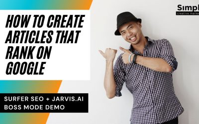 How to create articles that rank on Google using Surfer SEO + Jarvis AI Pro/Boss mode
